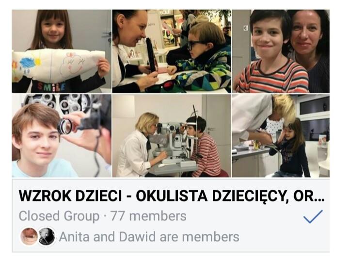 wzrok dzieci - grupa na facebooku