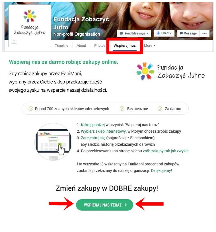facebook-fani-mani-zakupy-online-fundacja-zobaczyc-jutro