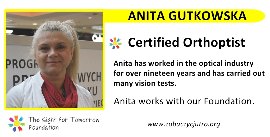 anita-gutkowska-certified-orthoptist-vision-tests-the-sight-for-tomorrow-foundation-team